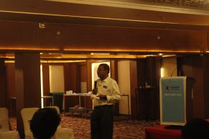 Addressed by Mr.Kishorekumar